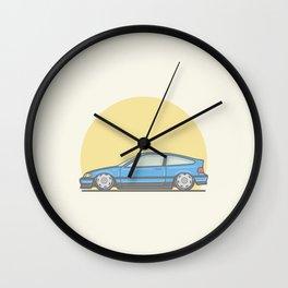Honda CRX mk2 vector illustration Wall Clock