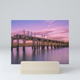 The Old Bridge at Sunset Mini Art Print
