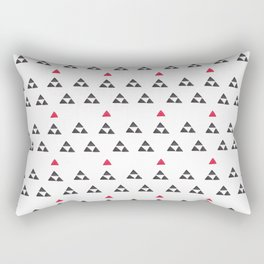 Geometrical hand painted red black watercolor triangles Rectangular Pillow