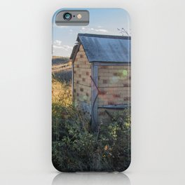 Outhouse, Hurd Round House, ND 1 iPhone Case