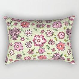 Whimsical Spring Flowers Rectangular Pillow