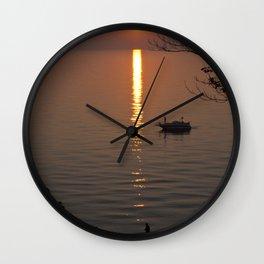 Lonely Michigan Sunset Wall Clock