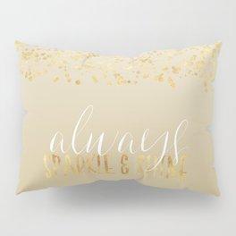Gold Confetti Ombre Sparkle Pillow Sham