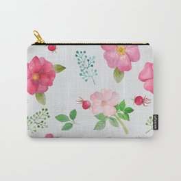 Rosehip Spring Garden Floral Pattern Carry-All Pouch