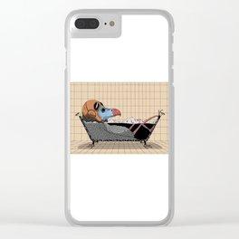 Every bird needs a bath Clear iPhone Case