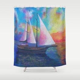 Bodrum Turquoise Coast Gulet Cruise Shower Curtain