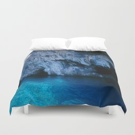 NATURE'S WONDER #5 - BLUE GROTTO (Turkey) #2 #art #society6 Duvet Cover