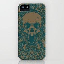 Blue Skull in jungle iPhone Case