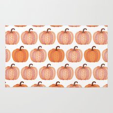 Patterned Pumpkin Rug