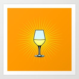 White Wine Fendant Art Print