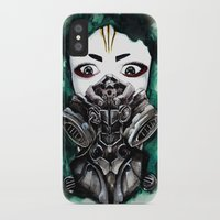cyberpunk iPhone & iPod Cases featuring Cyberpunk Kyoshi Warrior by SmidgenSpunks