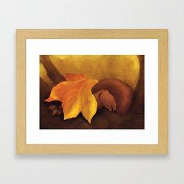 Sleeping Squirrel Framed Art Print