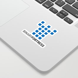 Binary Fortress Software (blue logo) Sticker