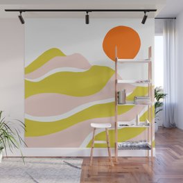sierra mountain sunset Wall Mural