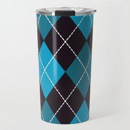 Halloween blue argyle pattern Travel Mug