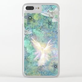 """""""Angelic Peace & Harmony"""" Clear iPhone Case"""