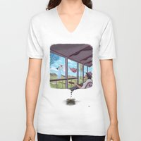 typewriter V-neck T-shirts featuring Typewriter by liev