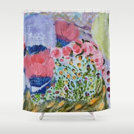 Second Flowers Shower Curtain