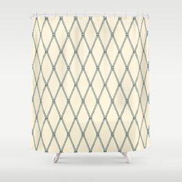 Nautical Fishing Net (Beige and Grey) Shower Curtain