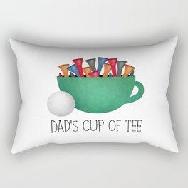 Dad's Cup Of Tee Rectangular Pillow
