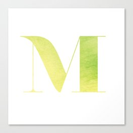 ABC Series - M Canvas Print