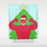 santa Shower Curtains featuring Santa by Mavekk