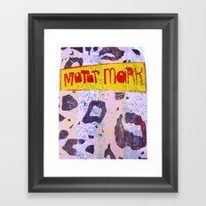 Motor Mark Framed Art Print