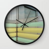 wisconsin Wall Clocks featuring Wisconsin Diner by Claire Elizabeth Stringer