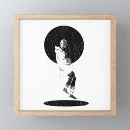 Rain Boy Framed Mini Art Print