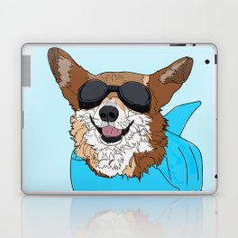 Corgi Dog Surfer Laptop & iPad Skin