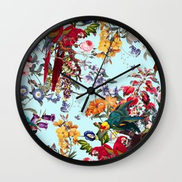 Floral and Birds XXXIV Wall Clock