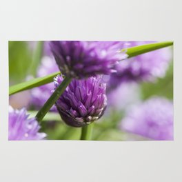 Wild purple wild flowers Rug