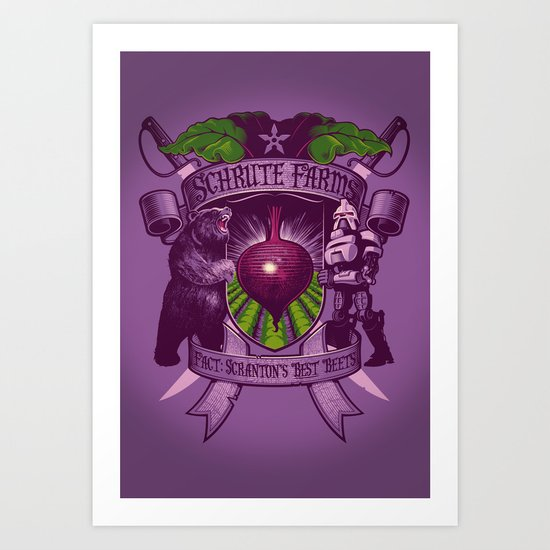 Bears, Beets, Battlestar Galactica Art Print