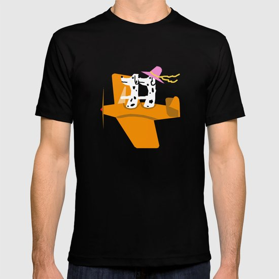 Airplane and Dalmatians T-shirt