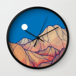 Lines in the mountains Wall Clock