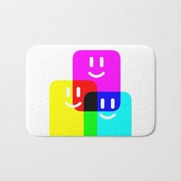 CMYK Full Cartridges   Emoji Version Bath Mat