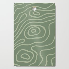 Topographic Map / Grayish Green Cutting Board