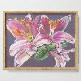 Vibrant Lily Serving Tray