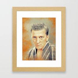 Kirk Douglas, Hollywood Legend Framed Art Print