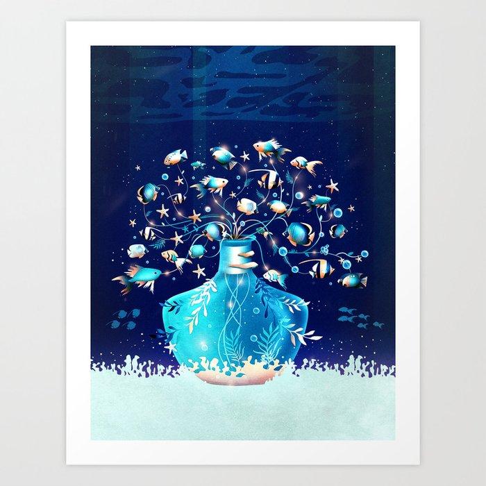 Fish Plant Art Print