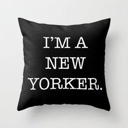 NEW YORKER Throw Pillow