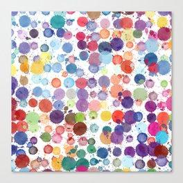 Watercolor Drops Canvas Print