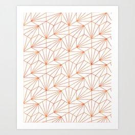 Rose Gold & White #society6 #decor #buyart Art Print