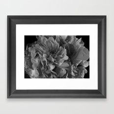 Black and White Bouquet Framed Art Print