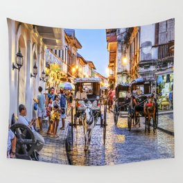 Rush Hour in Vigan City Wall Tapestry