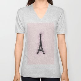 Eiffel Tower - Paris Unisex V-Neck