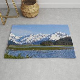 Alaska Mt Range - Spring Rug