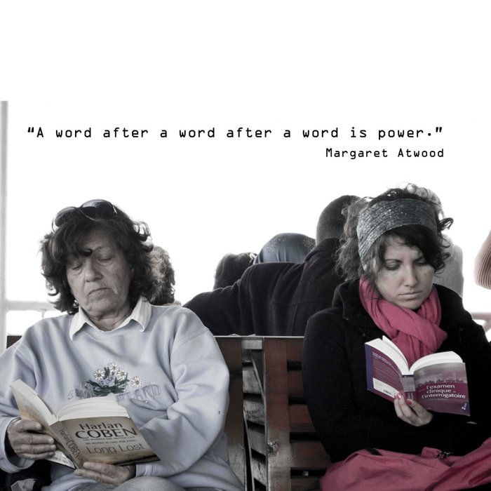"""""""A word after a word after a word is power.""""   Comforters"""