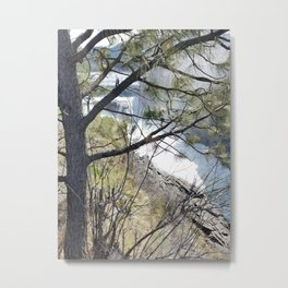 Post Falls, Waterfalls, Pretty Landscape, Beautiful Scenery Metal Print