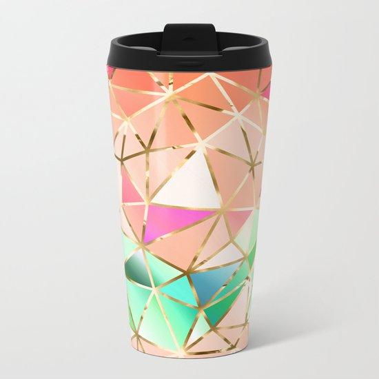 Rainbow Geometric pattern #2 Metal Travel Mug